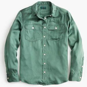 J.Crew Tall Green Holiday Shirt